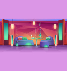 shisha hookah bar interior empty cafe for smoking vector image