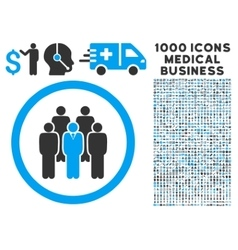 Staff Rounded Icon With Medical Bonus vector image