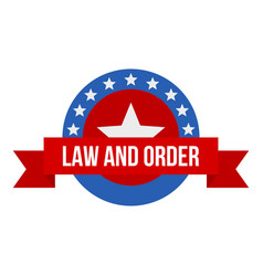 Stars law constitution day logo icon flat style vector