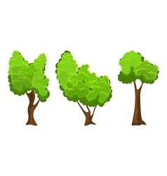 Summer tree set vector image