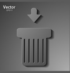 Trash can on abstract background vector