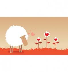 valentine sheep vector image