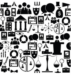 Vote seamless pattern background icon vector