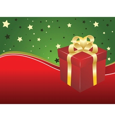 Background with gift box vector image