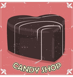 candy shop signboard vector image vector image