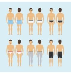Mens underwear icons vector image
