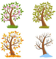 Season tree vector