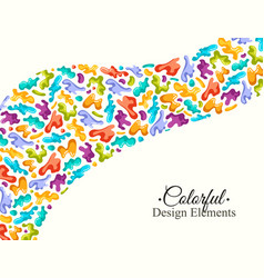 background with colorful spots and sprays on a vector image