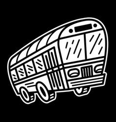 City bus transit vehicle icon vector