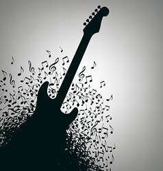 Notes Guitar Background vector image
