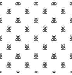 Orthodox church building pattern simple style vector image