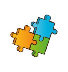 puzzle piece business image vector image