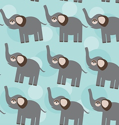 Elephant Seamless pattern with funny cute animal vector image vector image