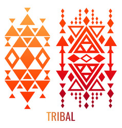 ethnic or tribal ornament elements vector image vector image