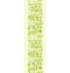 Painting of green grass vertical seamless pattern vector