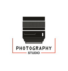 photo studio camera lens icon vector image vector image