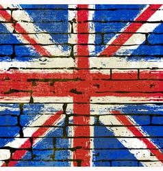 Union Jack Wall vector image vector image
