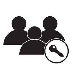 user access icon on white background user access vector image