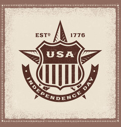 vintage usa independence day label vector image vector image