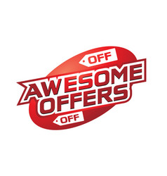 Awesome offers vector