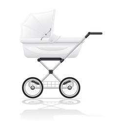 Baby perambulator 03 vector