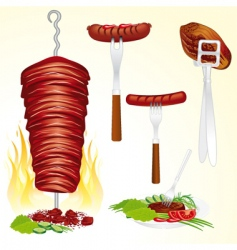 Bbq meat vector