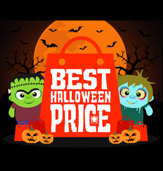 Best halloween price design background vector