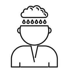 Bipolar disorder depression icon outline style vector