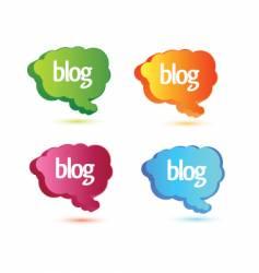 Blog design elements vector
