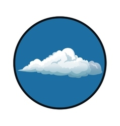 Blue sky clouds with circle white background vector