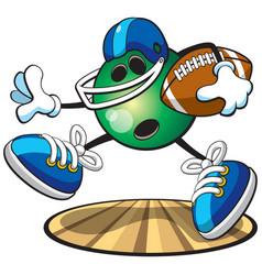 Bowling football vector