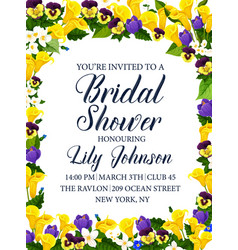 Bridal shower party or wedding ceremony invitation vector