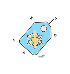 christmas tag icon design vector image