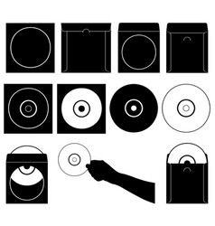 compact discs and cases vector image