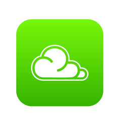 concept cloud icon green vector image