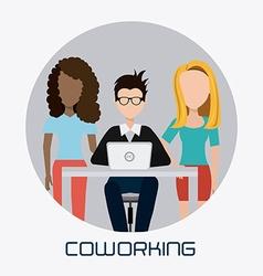 Coworking design vector image
