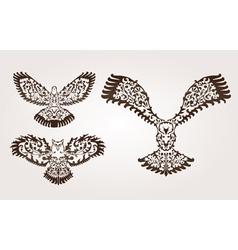 Decorative birds set vector