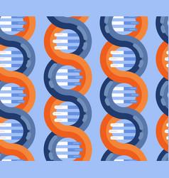 dna strands molecule seamless pattern vector image