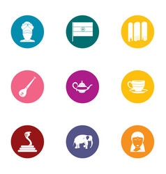 Domain icons set flat style vector