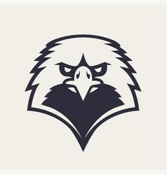 Eagle mascot icon vector