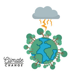 effects of climate change vector image