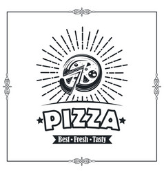 emblem of pizza vector image