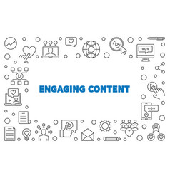 Engaging content concept simple outline vector