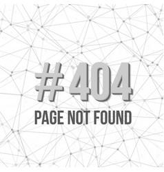 Error 404 Futuristic Wireframe Background vector