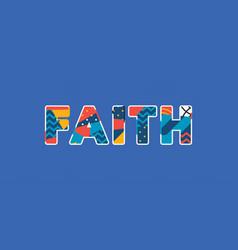 faith concept word art vector image