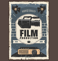 Film production cinema or movie industry vector