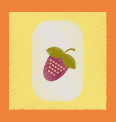 flat shading style icon strawberry natural vector image