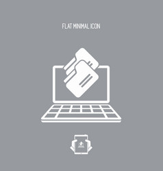 folders download - flat minimal icon vector image