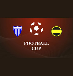 football match design vector image