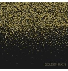 Golden rain background vector